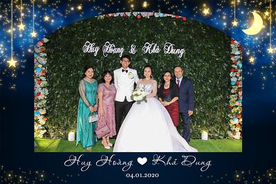 Dịch vụ in ảnh lấy liền & cho thuê photobooth tại sự kiện tiệc cưới của Huy Hoàng & Kha Dung | Instant Print Photobooth Vietnam at Huy Hoang & Kha Dung's wedding