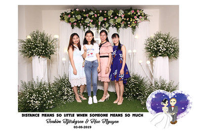 Dịch vụ in ảnh lấy liền & cho thuê photobooth tại sự kiện tiệc cưới của Joakim & Hue | Instant Print Photobooth Vietnam at Joakim & Hue's wedding