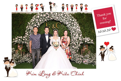 Dịch vụ in ảnh lấy liền & cho thuê photobooth tại sự kiện tiệc cưới của Kim Long & Kiều Chinh | Instant Print Photobooth Vietnam at Kim Long & Kieu Chinh's wedding