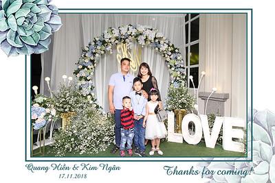 Chụp ảnh lấy liền và in hình lấy liền từ photobooth tại tiệc cưới của Kim Ngân & Quang Hiền | Instant Print Photobooth at Kim Ngan & Quang Hien's Wedding | PRINTAPHY - PHOTO BOOTH VIETNAM