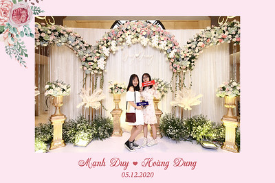 Dịch vụ in ảnh lấy liền & cho thuê photobooth tại sự kiện Tiệc cưới của Mạnh Duy & Hoàng Dung | Instant Print Photobooth Vietnam at Manh Duy & Hoang Dung's Wedding