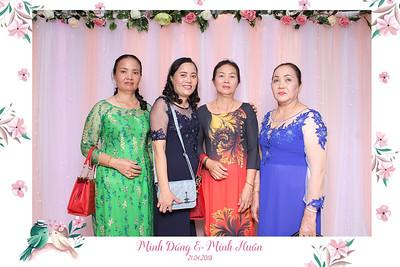 Chụp ảnh lấy liền và in hình lấy liền từ photobooth tại tiệc cưới của Minh Đáng & Minh Huân | Instant Print Photobooth at Minh Đáng & Minh Huân's Wedding | PRINTAPHY - PHOTO BOOTH VIETNAM