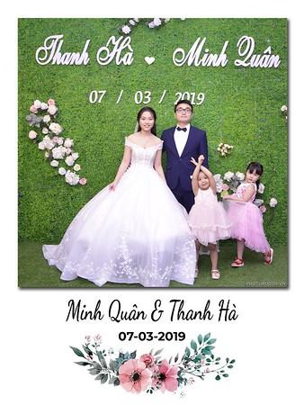 Minh Quan & Than Ha Wedding instant print photobooth in Ha Noi - in ảnh lấy ngay Tiệc cưới tại Hà Nội