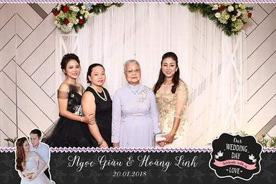 Chụp ảnh lấy liền và in hình lấy liền từ photobooth tại tiệc cưới của Ngọc Giàu & Hoàng Linh | Instant Print Photobooth at Ngọc Giàu & Hoàng Linh's Wedding | PRINTAPHY - PHOTO BOOTH VIETNAM