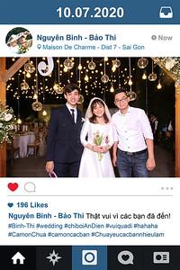 Dịch vụ in ảnh lấy liền & cho thuê photobooth tại sự kiện tiệc cưới của Nguyên Bình & Bảo Thi | Instant Print Photobooth Vietnam at Nguyen Binh & Bao Thi's wedding