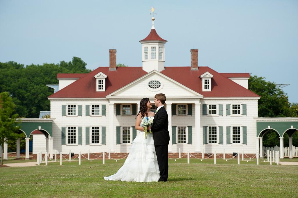 The bride and groom at Mt. Vernon, American Village in Montevallo, AL. Daniel Taylor Photography