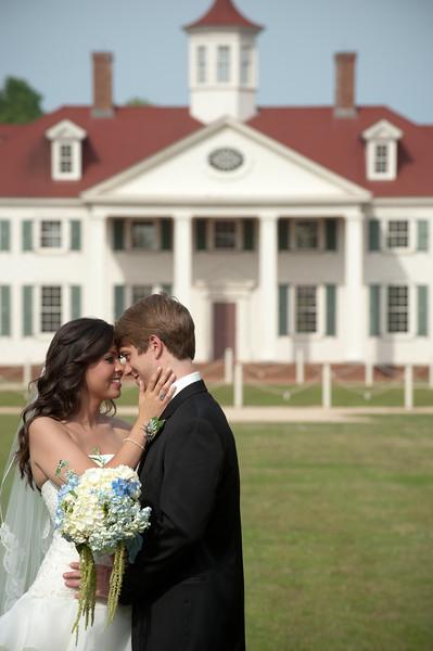 The bride and groom at American Village in Montevallo, AL. Daniel Taylor Photography