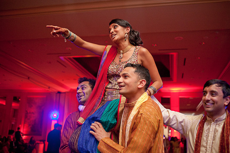 Pinal during the engagement celebration dancing at the Wynfrey. Photo by Daniel Taylor Photography