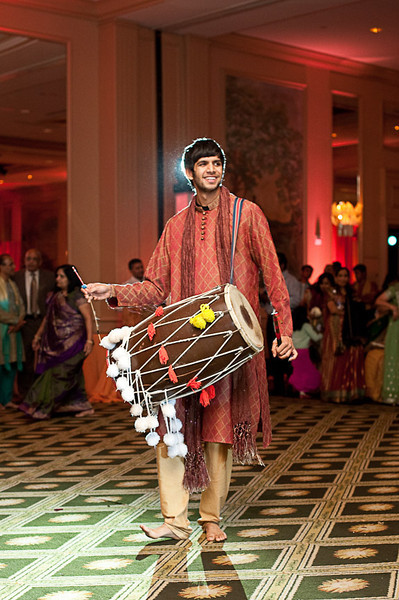 """A traiditional """"dhol"""" is played to keep the beat during the dancing. Daniel Taylor Photography"""