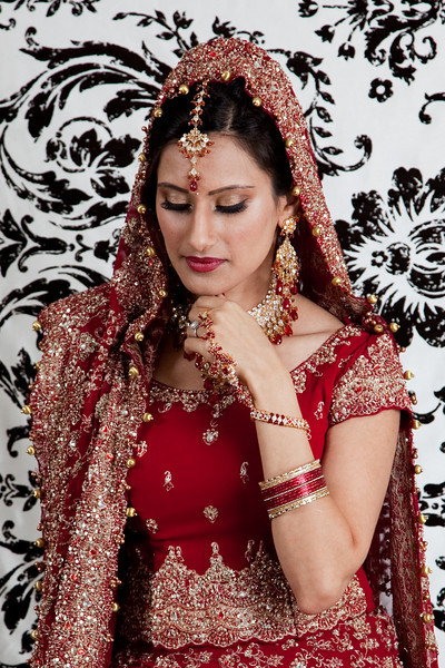 A classic Indian bridal portrait pose, by Daniel Taylor Photography