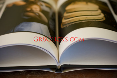 Hard bound book with glossy dust cover jacket