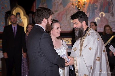 Tying the couple seen during many of the Greek or Serbian Orthodox wedding services signifies their eternal bond.