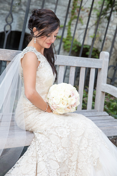Bridal portraits took us to the manicured Northwestern University campus.