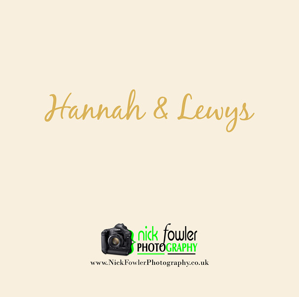 Hannah and Lewys wedding photography
