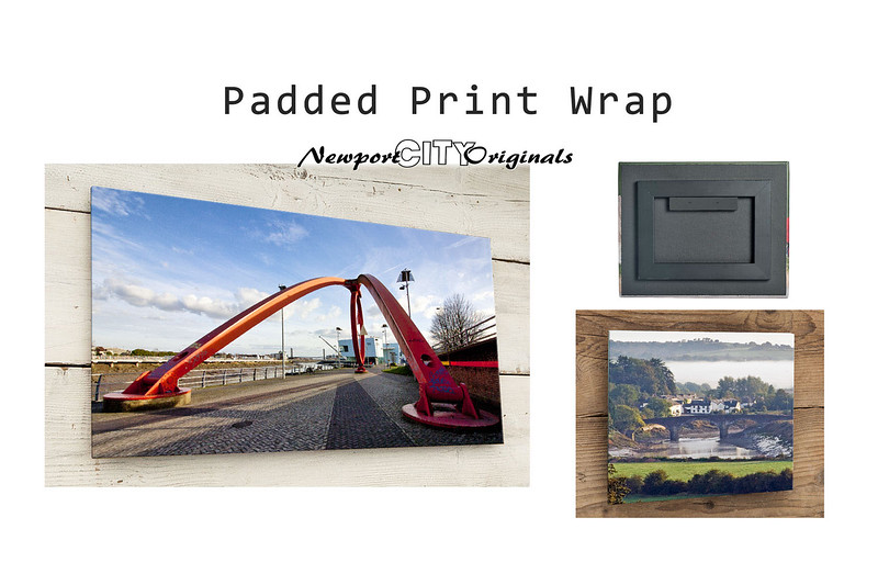 Padded Print Wrap: Frames & Display options