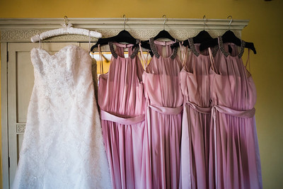Shropshire Wedding, Dresses Hanging