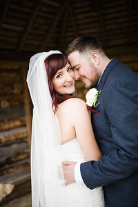 Bride and Groom Portraits Outside at Delbury
