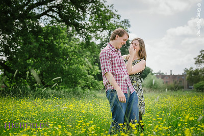 Engagement photography in the meadow at Charlecote Park