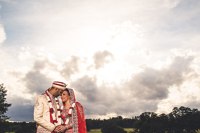 asian wedding photography - under the clouds at Belvoir