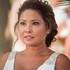 Emotional beach bride at Villa Dezecheo