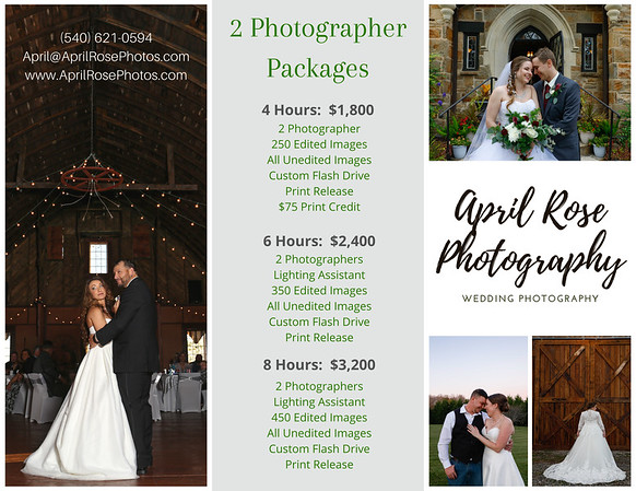 Copy of Brown and White Wedding Photography Brochure
