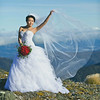 Bridal photoshoot at Mount Hector-Tararuas