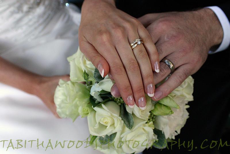 Wedding ring details.