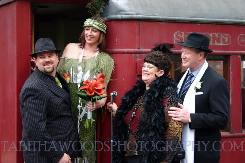 Vintage styled wedding, Silverstream steam train, Wellington.