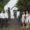 Bridal party -Wallaceville Church