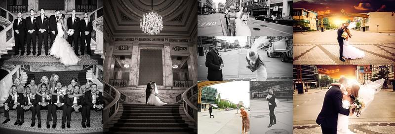 Nikki & Eric 8x12 Flush Mount Wedding Album