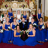 Cole wedding groom with bridesmaids