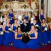 Cole wedding groom with bridesmaids