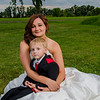 Stello wedding bride with son