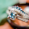 wedding ring with blue stone