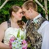 Bourgeois wedding bride and groom