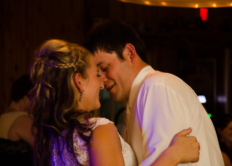 Loftus wedding stealing a kiss