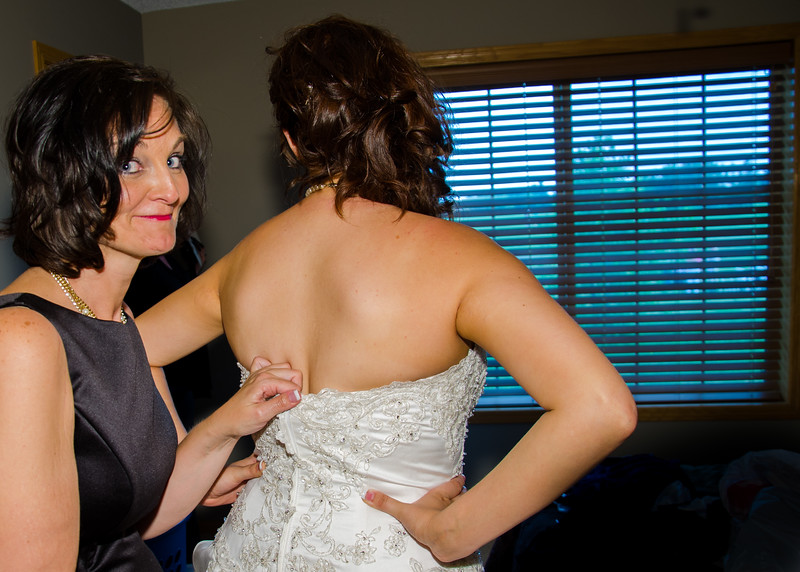 Stello wedding bride and mother getting dressed