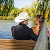 Schwarz wedding bride and groom by the river