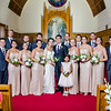 Zamora wedding party in church