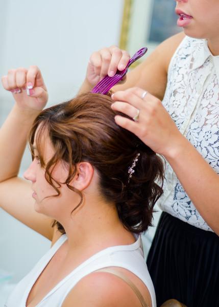 Stello wedding brides hair