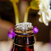 Riess wedding rings on beer