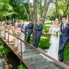 Zamora wedding party on bridge