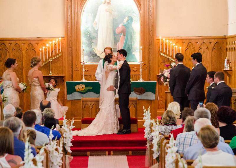 Zamora wedding first kiss
