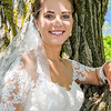 Zamora wedding brides smile