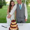 Anderson wedding cake cutting