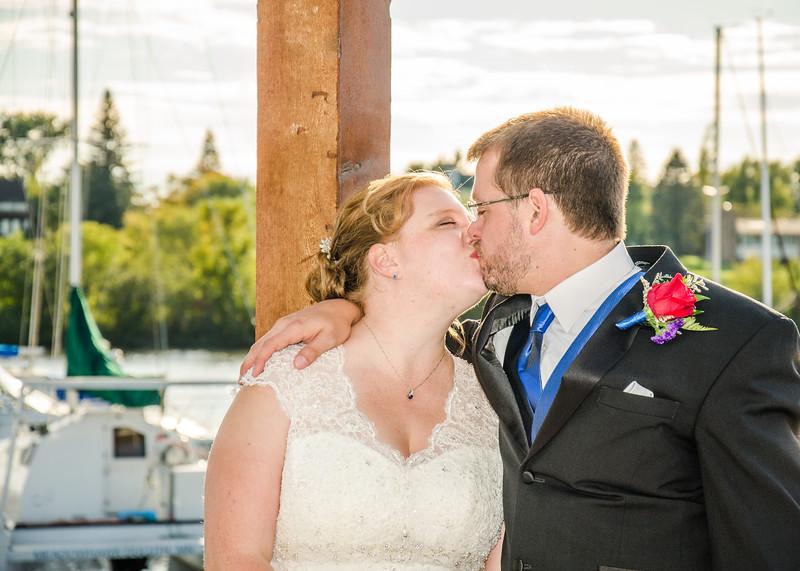 Jakson wedding bride and groom kiss