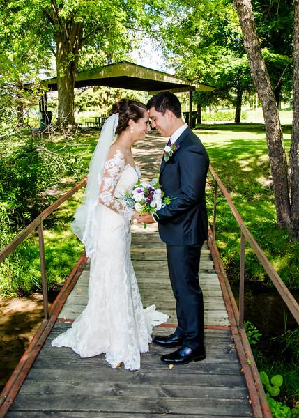 Zamora wedding bride and groom on bride