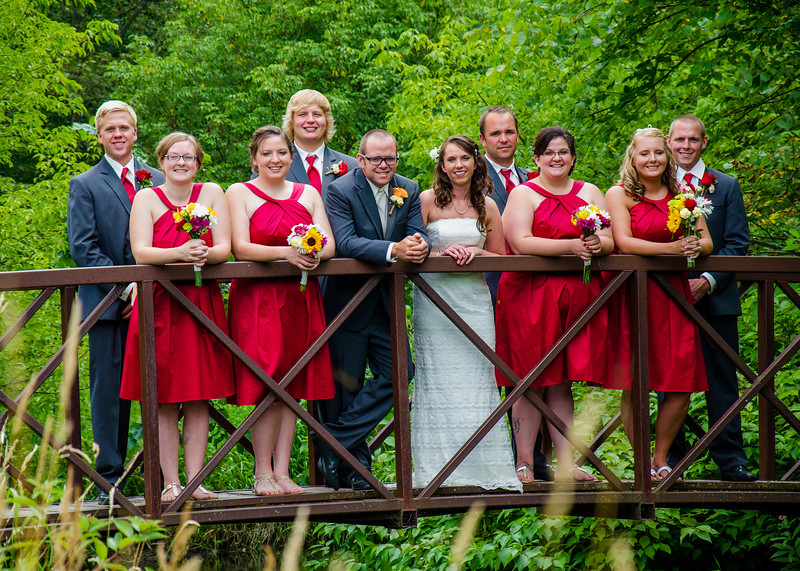 Kriel wedding wedding party side view of bridge