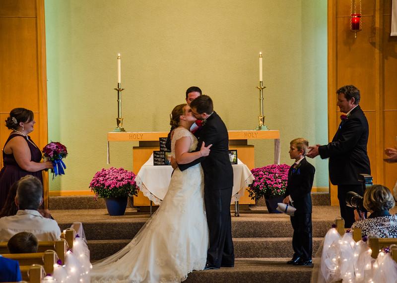 Jackoson wedding first kiss