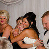 Risa wedding bride hugging sister